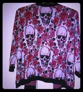 Torrid Skull Cardigan Halloween Size 0